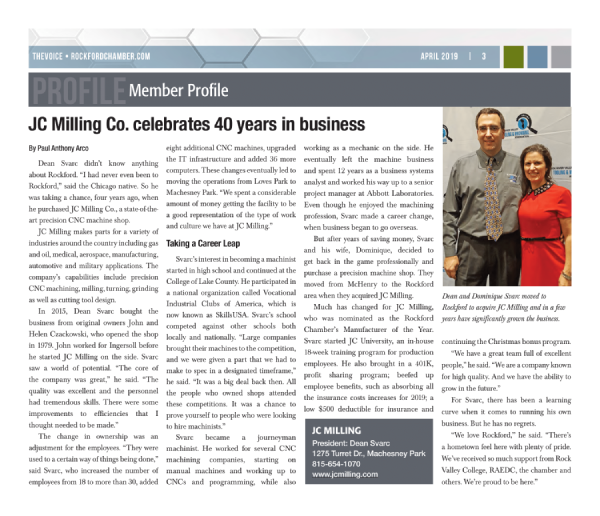JC Milling Celebrates 40 Years In Business